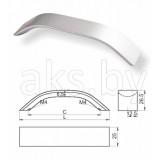 Ручка мебельная алюминиевая  AL1508, , 6.00 руб., AL1508, , Мебельная фурнитура