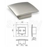 Ручка мебельная врезная прямоугольная UZ-В226, , 4.80 руб., UZ-В226, , Мебельная фурнитура