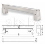 Ручка мебельгная UZ-334, инокс