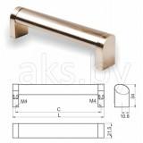 Ручка мебельная UZ-335, инокс