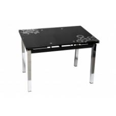 Стол стеклянный раскладной Karlota-65