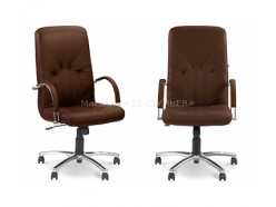 Кресло поворотное Manager Steel Chrome